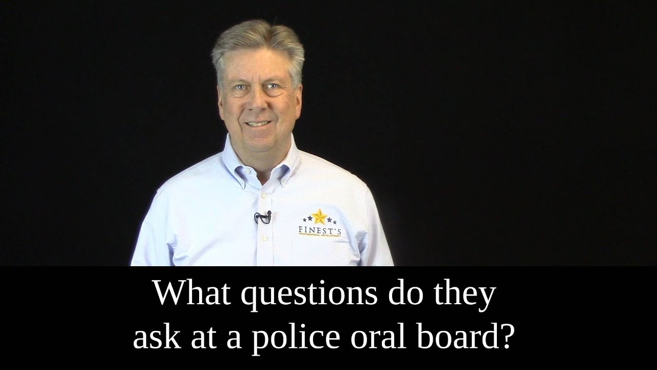 Video: What Questions do they ask at a police oral board?