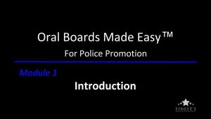 Oral Boards Made Easy Introduction